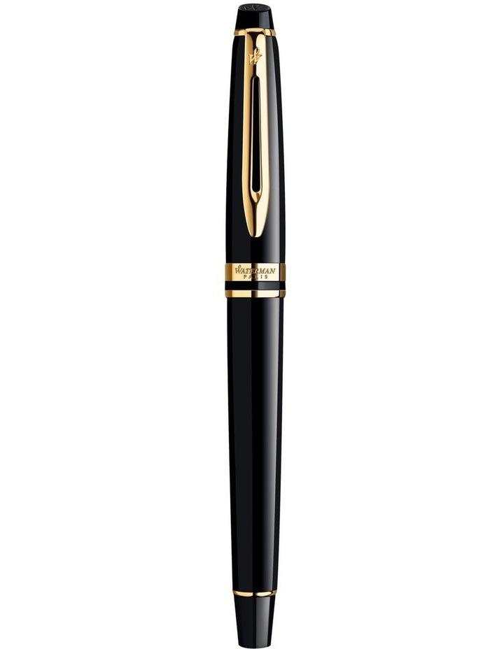 Waterman Expert Black Gold Trim Fountain Pen image 2