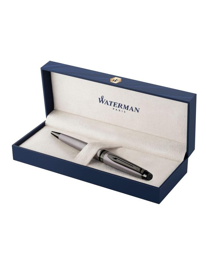 Waterman Expert Metallic Silver Lacquer with Ruthenium Trim Ballpoint Pen image 2