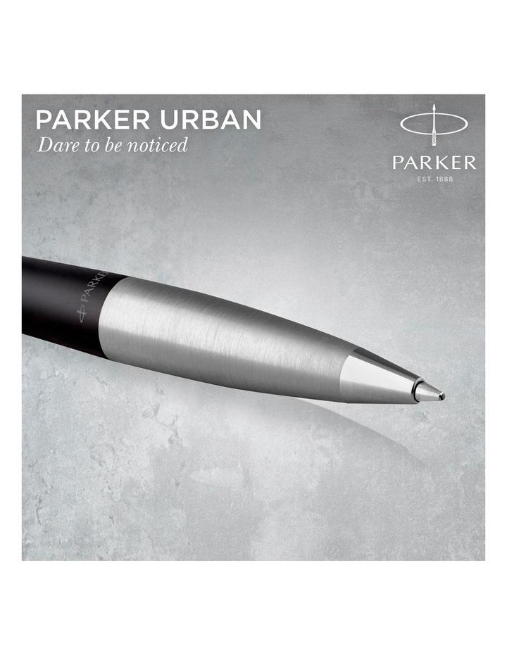 Parker Urban Muted Black Chrome Trim Twist Ballpoint Pen image 5