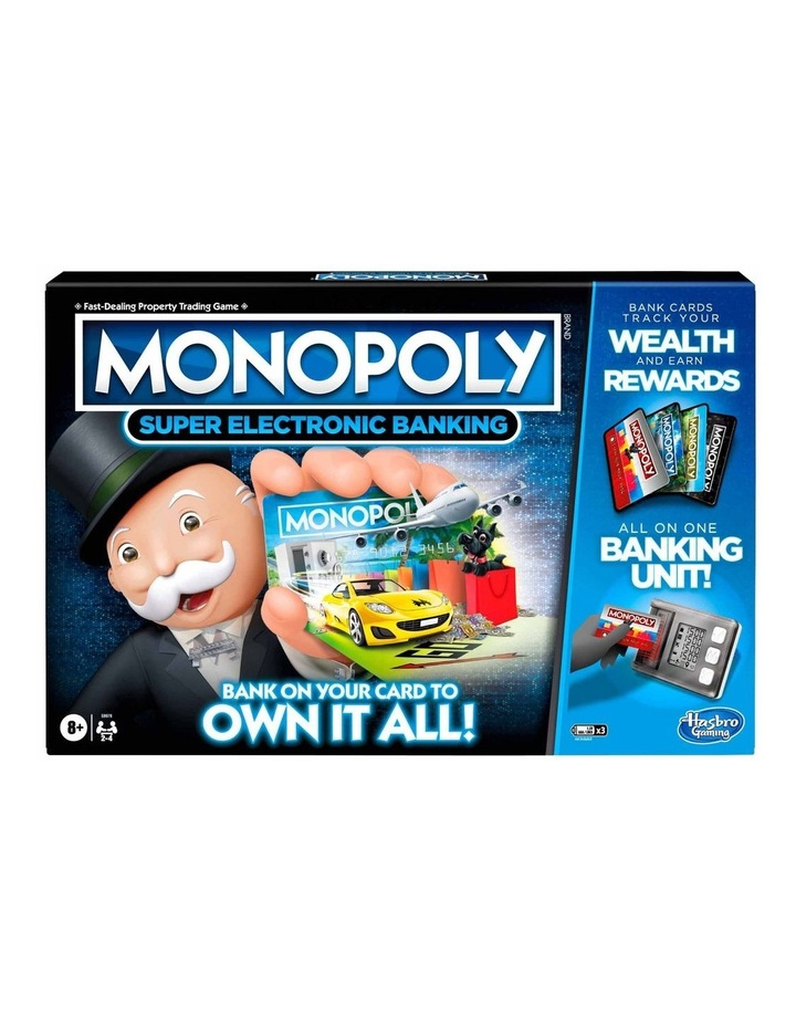 Monopoly Ultimate Rewards Board Game - Electronic Banking Unit with Tap Technology image 1
