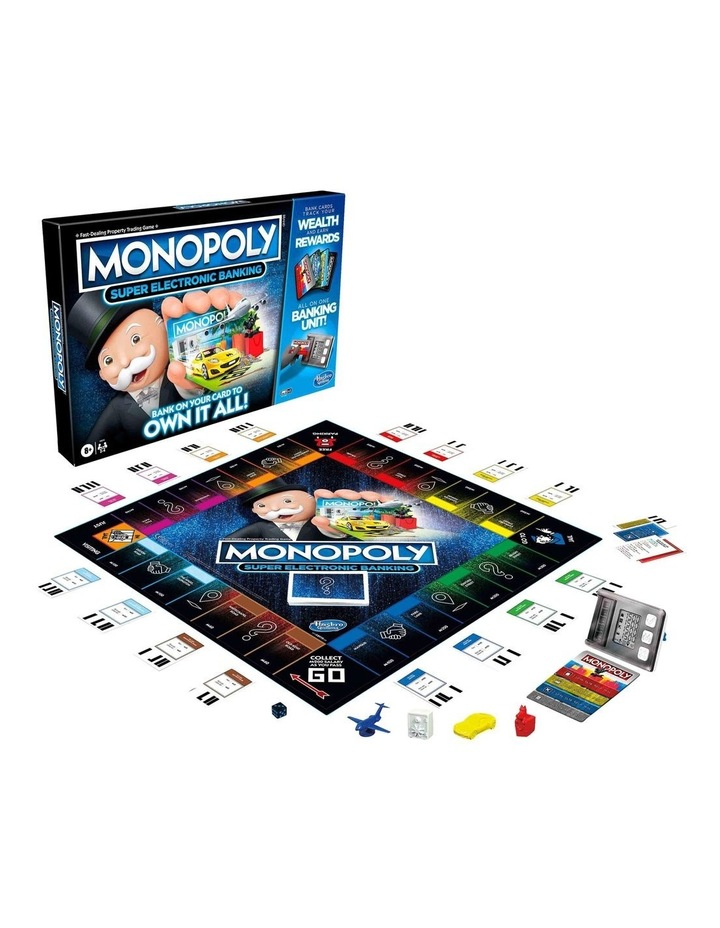 Monopoly Ultimate Rewards Board Game - Electronic Banking Unit with Tap Technology image 4