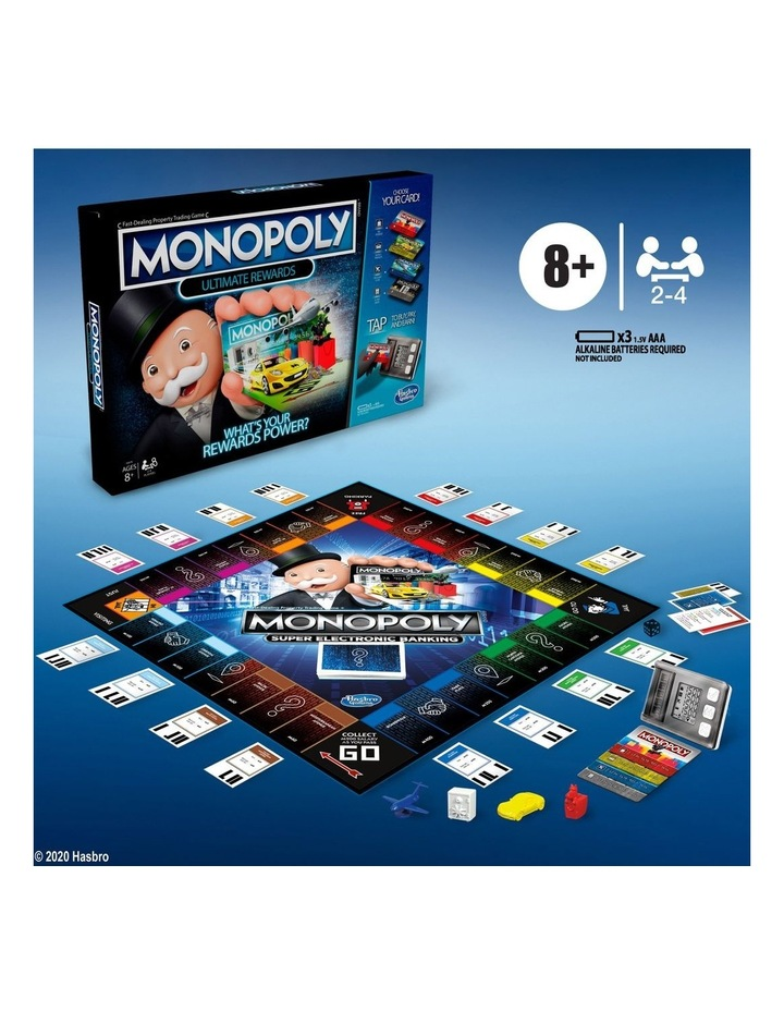 Monopoly Ultimate Rewards Board Game - Electronic Banking Unit with Tap Technology image 5