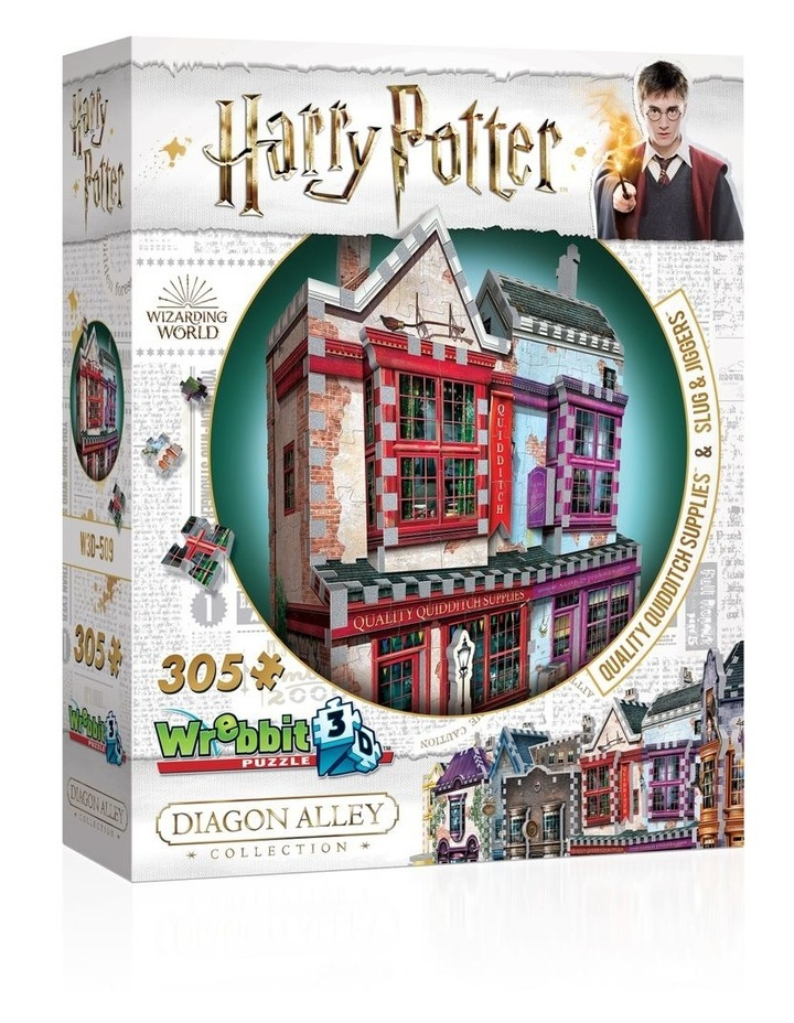 Diagon Alley Collection Quality Quidditch Supplies/Slug & Jiggers 3D Puzzle image 1