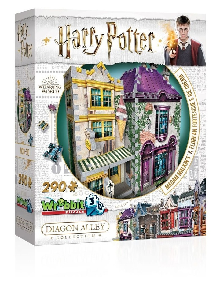Harry Potter Diagon Alley Collection Madam Malkin's and Florean Fortescue's Icecream 3D Puzzle image 1