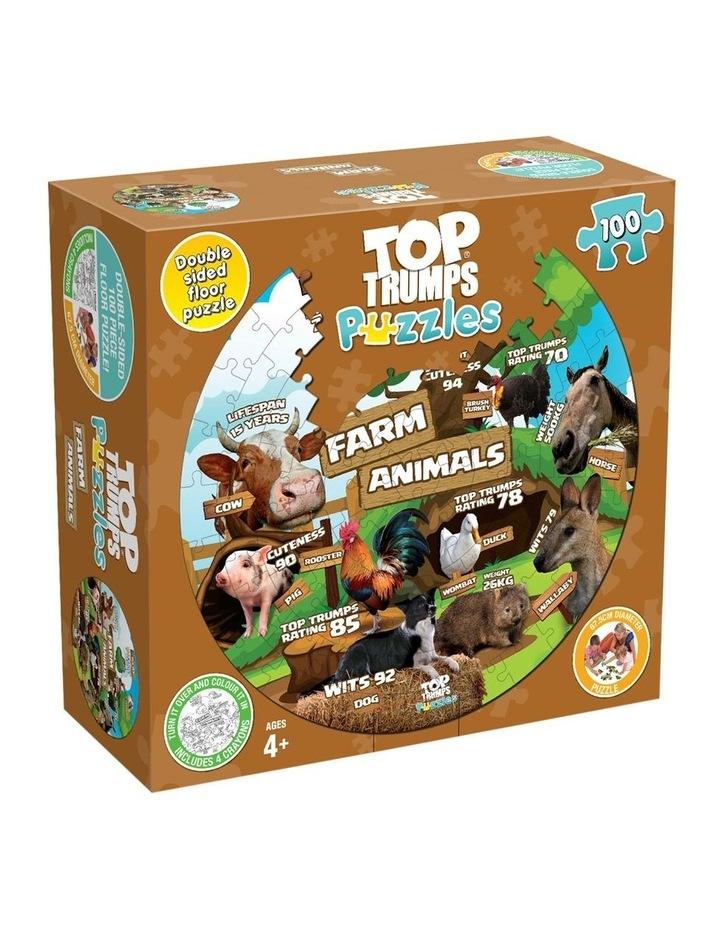 Farm Animals Top Trumps Floor Puzzle - 100 piece image 1