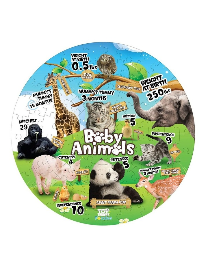 Baby Animals Top Trumps Floor Puzzle - 100 piece image 2