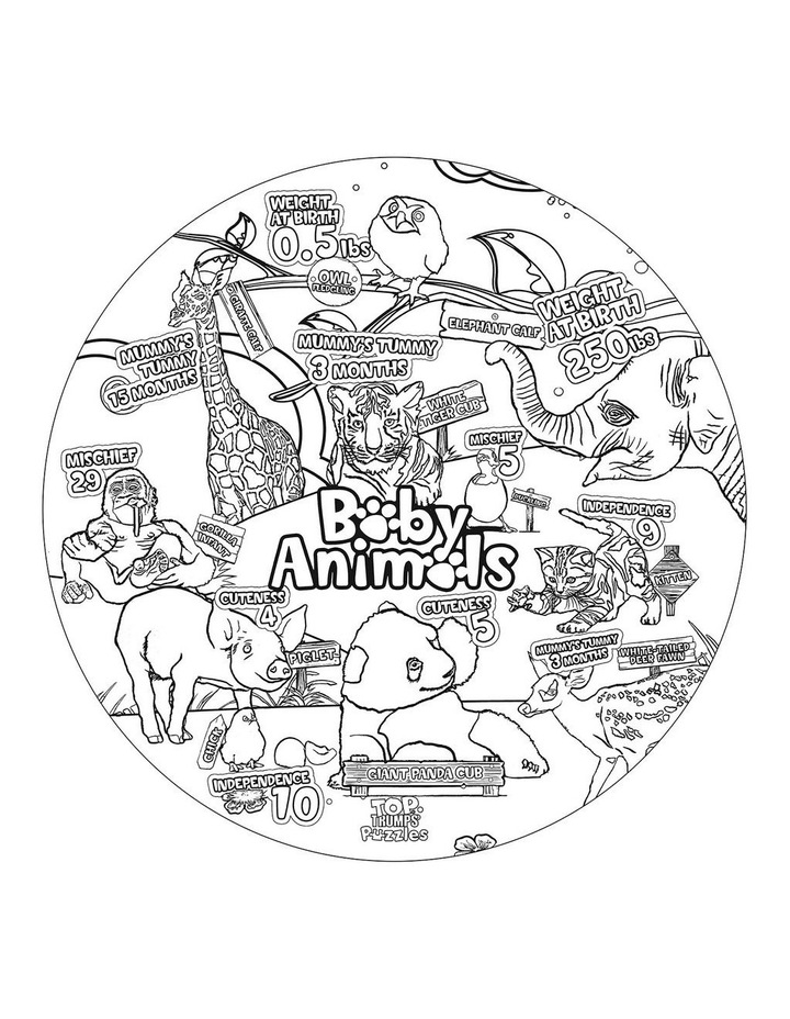 Baby Animals Top Trumps Floor Puzzle - 100 piece image 3