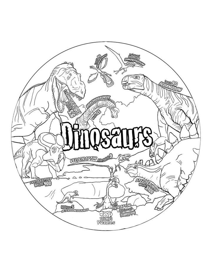 Dinosaurs To Trumps Floor Puzzle - 100 piece image 3