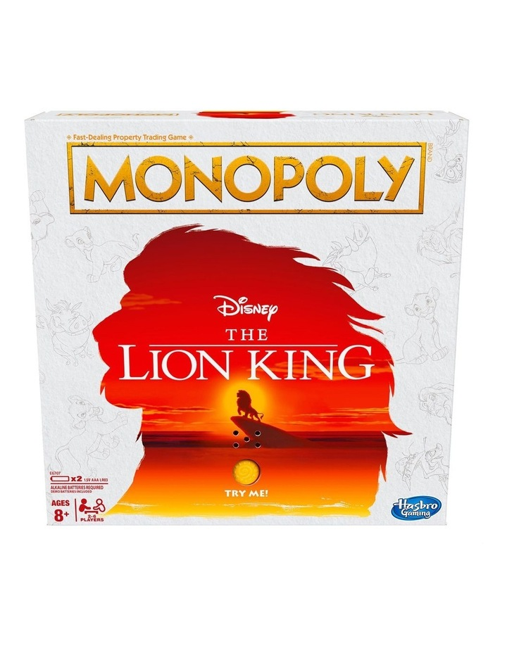 MONOPOLY Disney The Lion King Edition image 1