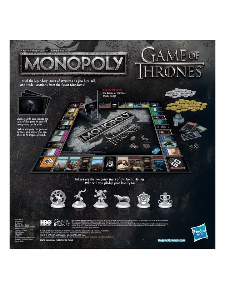 Monopoly Game of Thrones Edition - Winterfell Castle, Westeros image 4