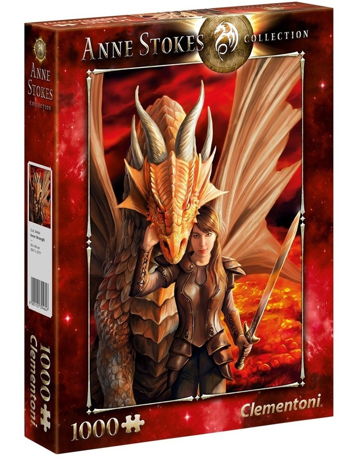 Inner Strength - Anne Stokes Dragon Collection 1000pce Clementoni Puzzle image 1
