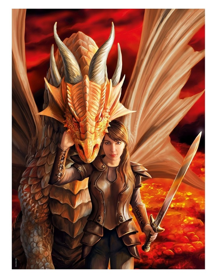 Inner Strength - Anne Stokes Dragon Collection 1000pce Clementoni Puzzle image 2