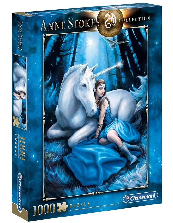 1000pce Blue Moon Unicorn - Anne Stokes Collection image 1