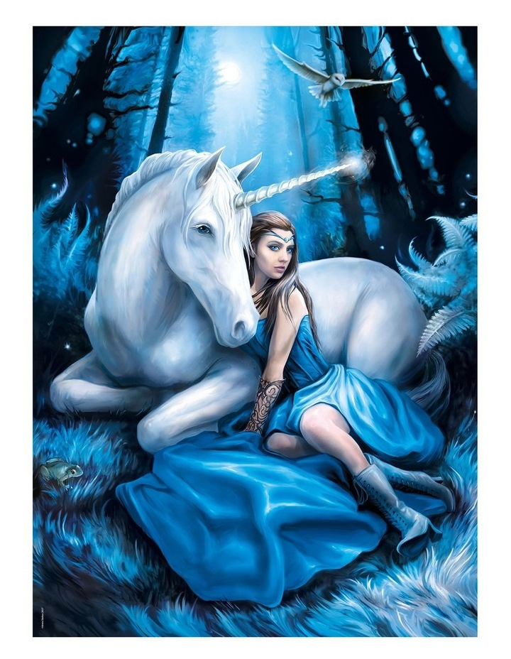 1000pce Blue Moon Unicorn - Anne Stokes Collection image 2