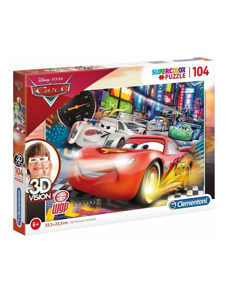 Supercolor 104pce 3D Vision Puzzle - Cars image 1