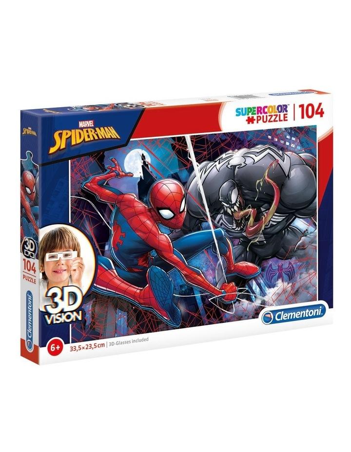Supercolor 104pce 3D Vision Puzzle - Spiderman image 1