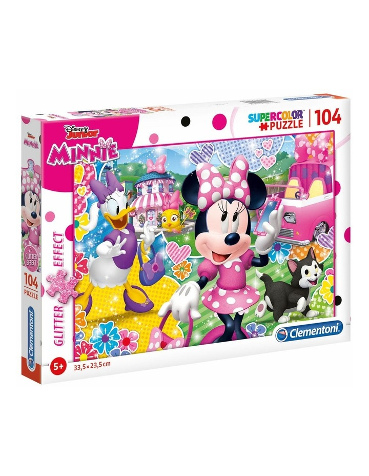 Supercolor 104pce Glitter Effect Puzzle - Minnie image 1