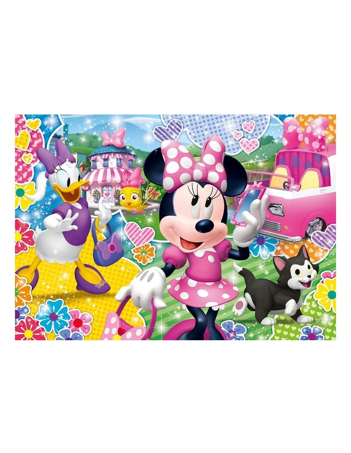 Supercolor 104pce Glitter Effect Puzzle - Minnie image 2