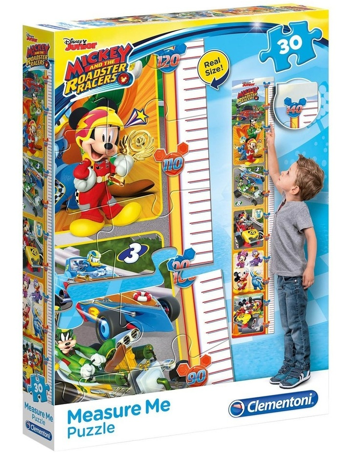 Disney Mickey and The Roadster Racers Measure Me Puzzle (30 Pcs) image 1