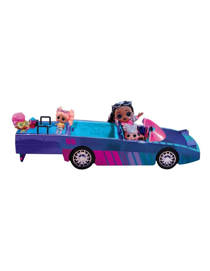 L.O.L Surprise Dance Machine Car with Exclusive Doll, Surprise Pool and Dance Floor, Multicolour and Magic Blacklight image 1