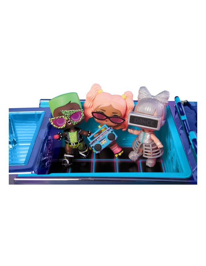 L.O.L Surprise Dance Machine Car with Exclusive Doll, Surprise Pool and Dance Floor, Multicolour and Magic Blacklight image 4