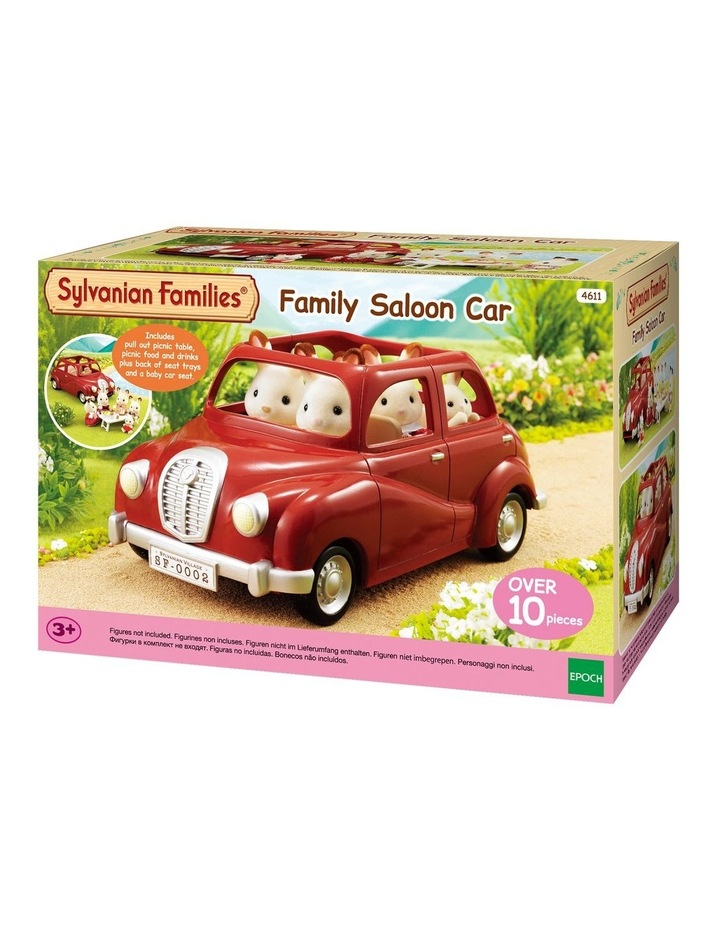 Family Red Saloon Car image 2