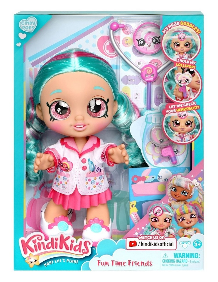 Kindi Kids Fun Time Doll - Dr Cindy Pops image 1
