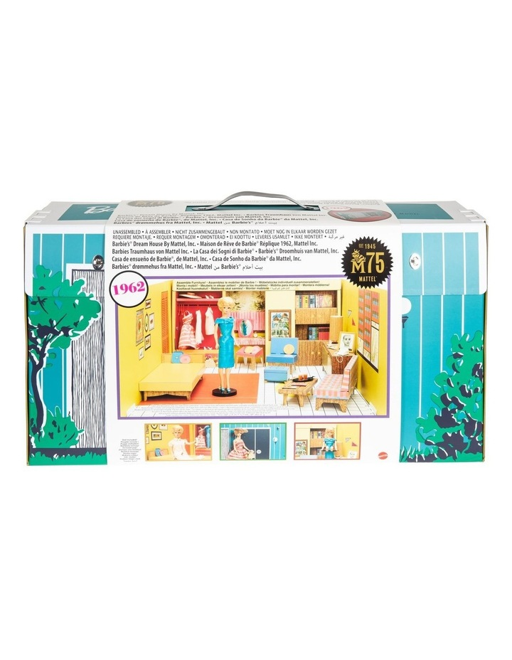Barbie's 75th Anniversary Dream House with Doll and Accessories image 1