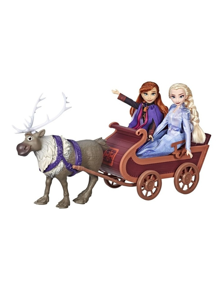 Frozen 2 Sledding Sven & Sisters Elsa & Anna Fashion Dolls image 2