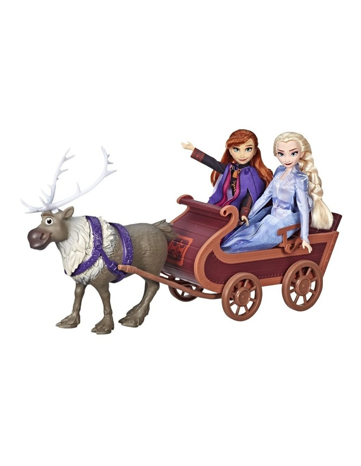 Frozen 2 Sledding Sven & Sisters Elsa & Anna Fashion Dolls image 3