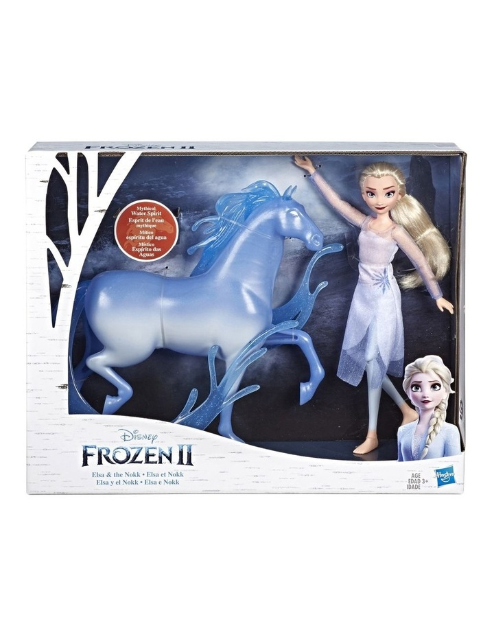 Frozen 2 Elsa Fashion Doll & the Nokk Figure - Mythical Water Spirit image 1