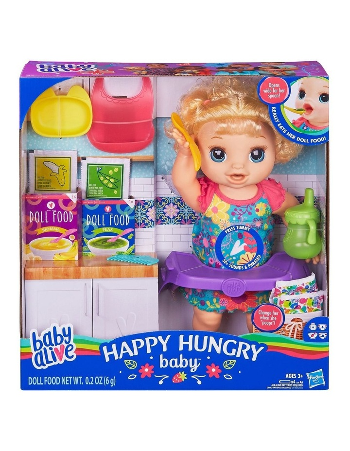 Happy Hungry Baby - Blonde Curly Hair Doll - 50  Sounds & Phrases image 1