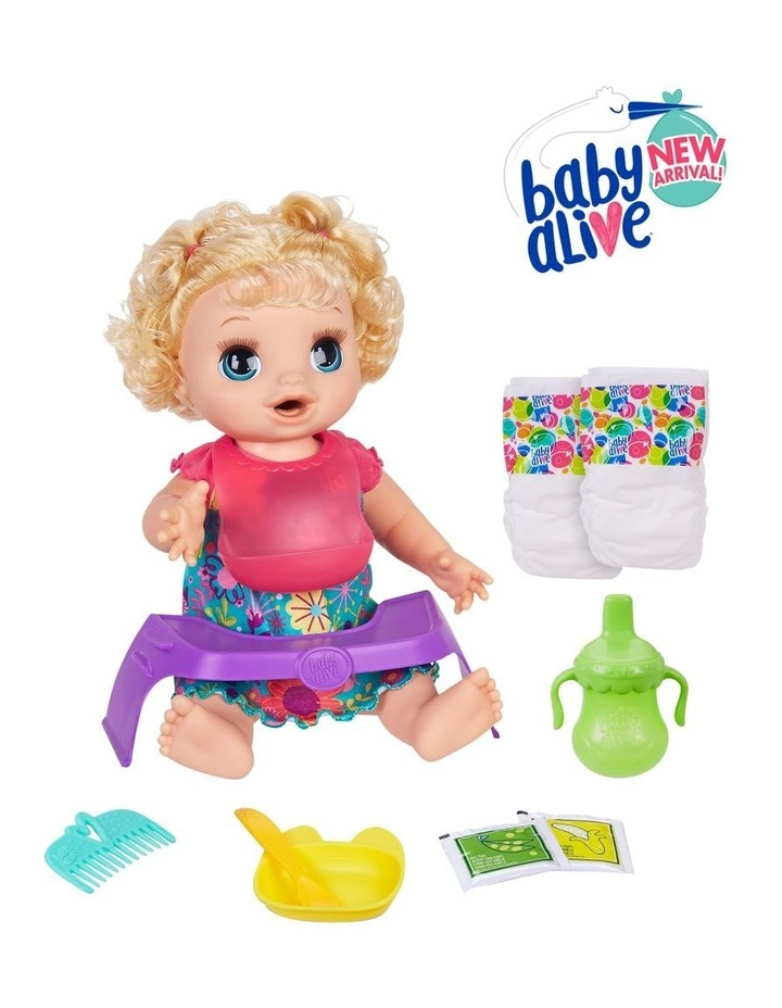 Happy Hungry Baby - Blonde Curly Hair Doll - 50  Sounds & Phrases image 3