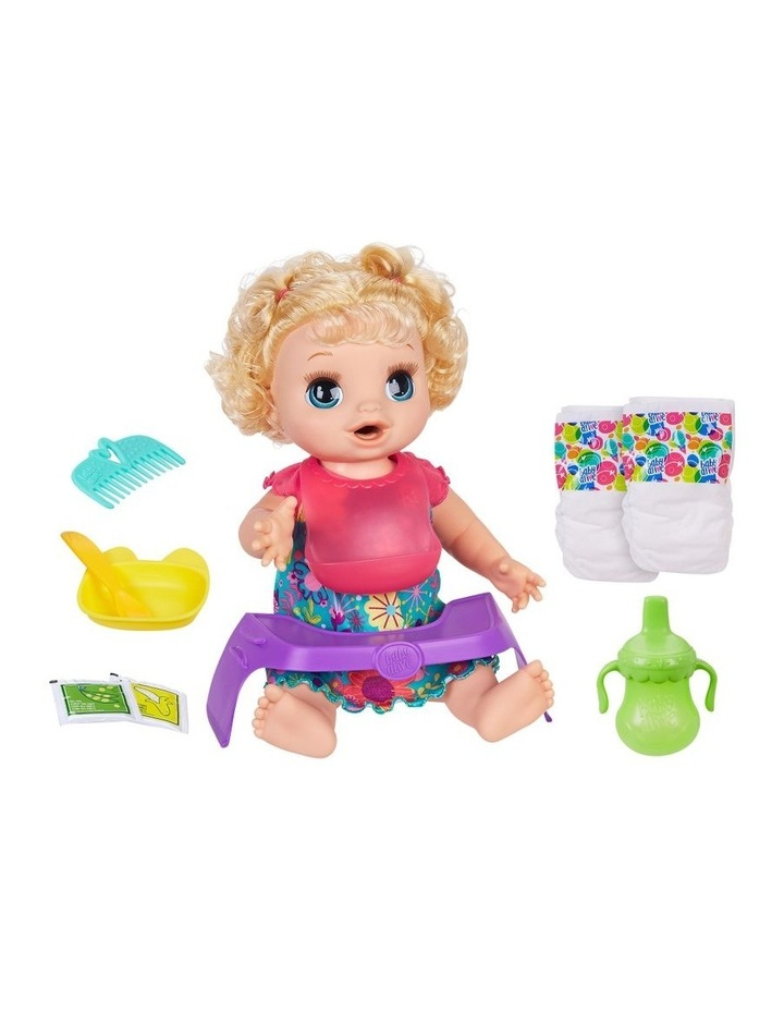 Happy Hungry Baby - Blonde Curly Hair Doll - 50  Sounds & Phrases image 4