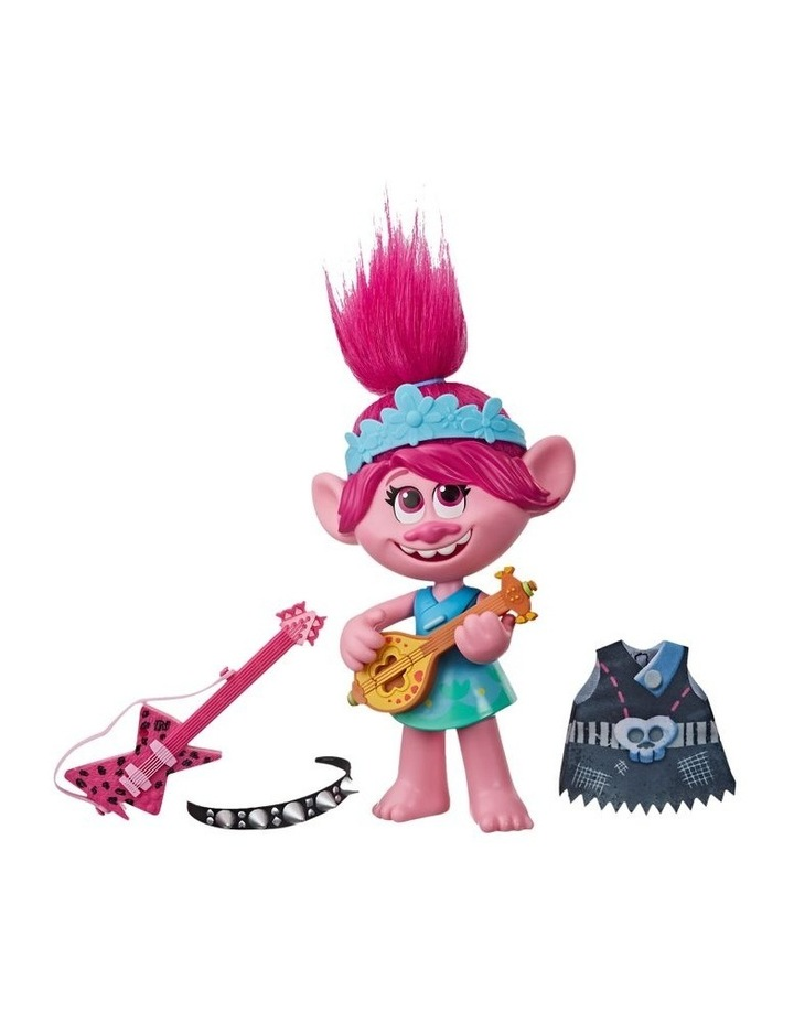 World Tour DreamWorks - Pop-to-Rock Poppy Singing Doll with 2 Different Looks & Sounds image 1