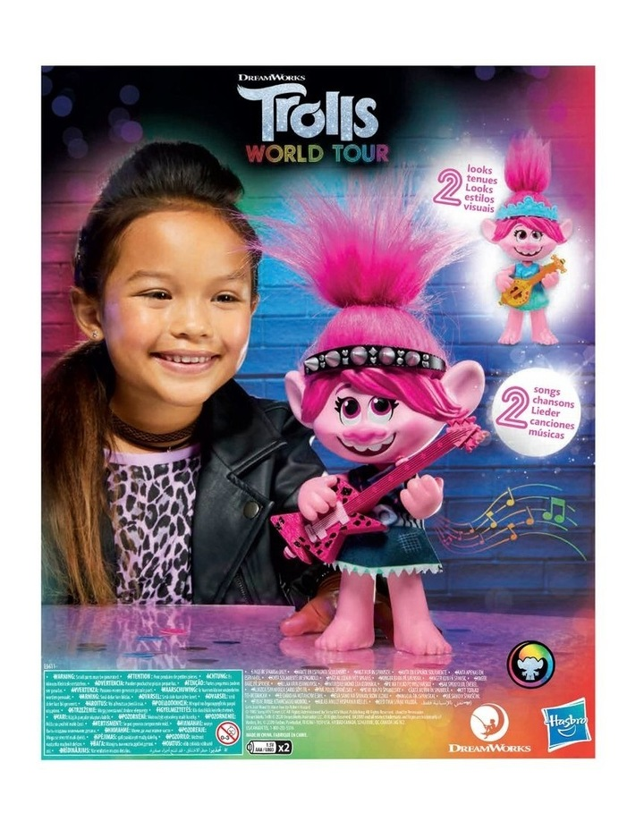 World Tour DreamWorks - Pop-to-Rock Poppy Singing Doll with 2 Different Looks & Sounds image 4
