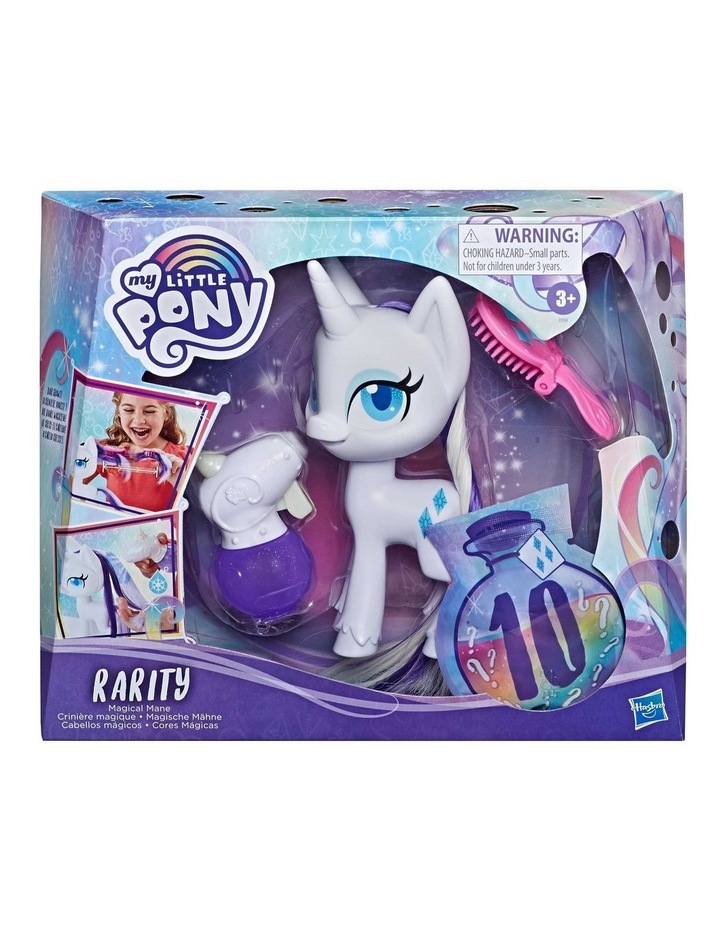 """Magical Mane 6.5"""" Rarity Doll - Hair Grows & Changes Color image 2"""