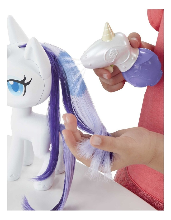 """Magical Mane 6.5"""" Rarity Doll - Hair Grows & Changes Color image 4"""