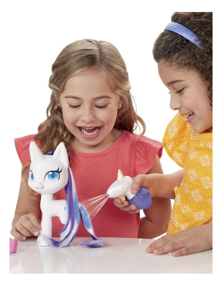 """Magical Mane 6.5"""" Rarity Doll - Hair Grows & Changes Color image 7"""