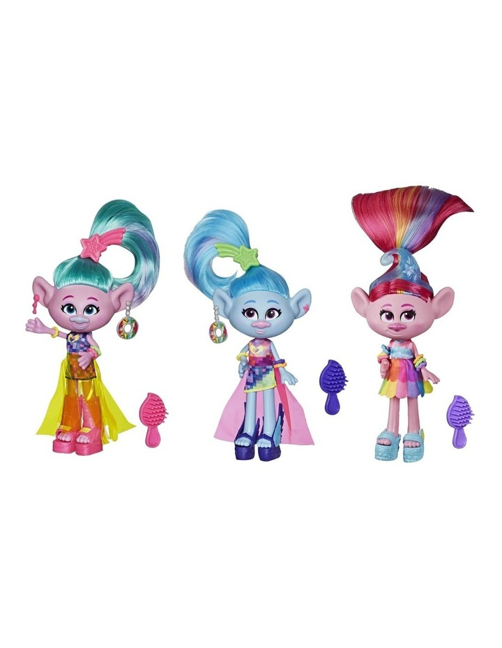 Glam Fashion Trolls Dolls Poppy - Chenille - Satin - Assortment image 1