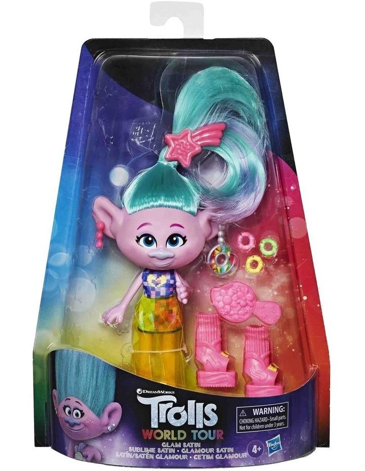 Glam Fashion Trolls Dolls Poppy - Chenille - Satin - Assortment image 6