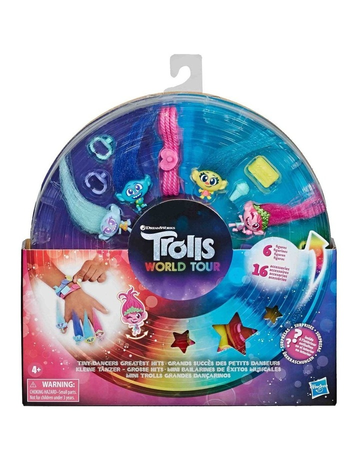 Trolls World Tour DreamWorks - Tiny Dancers Greatest Hits - 6 Collector Figures image 3