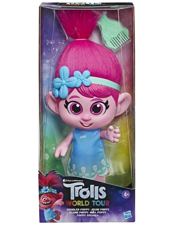 World Tour DreamWorks - Toddler Poppy Doll with Removable Dress & Comb image 3