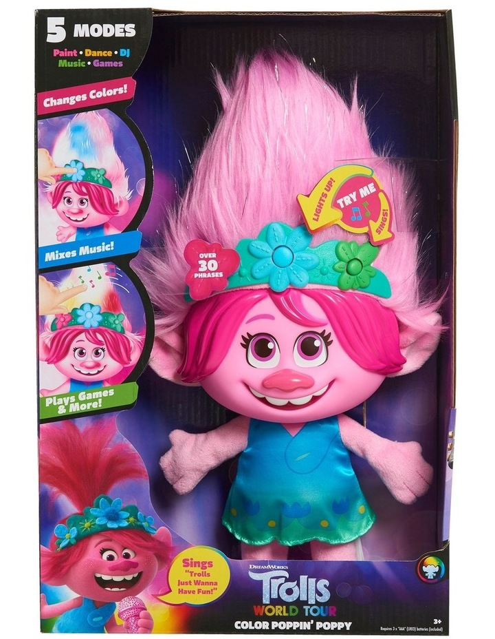 Trolls World Tour Paint With Poppy Feature Plush image 1
