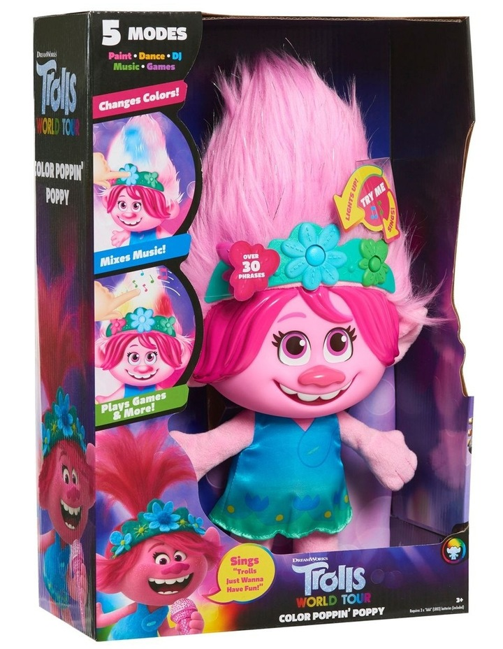 Trolls World Tour Paint With Poppy Feature Plush image 2