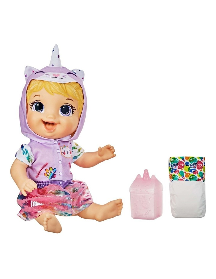 Tinycorns Doll with Unicorn Accessories - Blonde Hair Doll that Drinks & Wets image 1