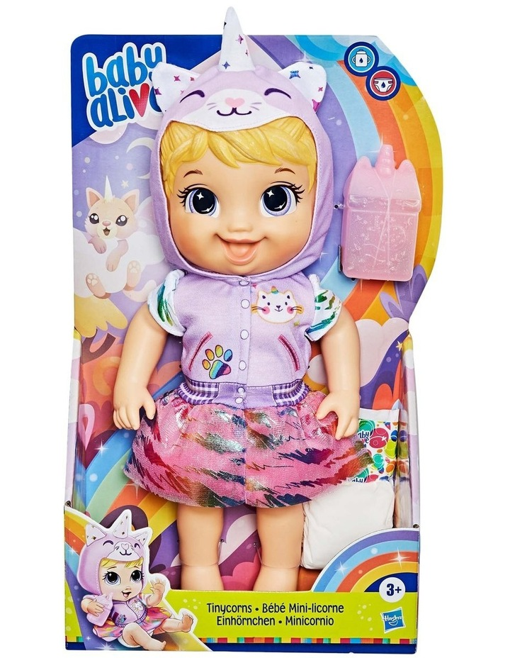 Tinycorns Doll with Unicorn Accessories - Blonde Hair Doll that Drinks & Wets image 2