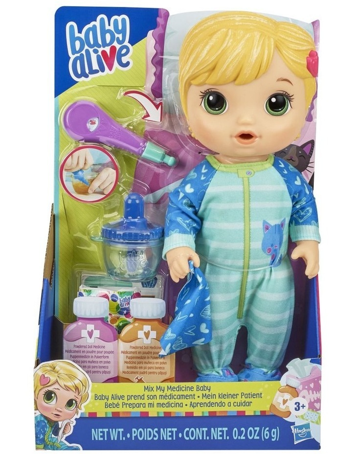 Mix My Medicine Baby Doll in Kitty Cat Pajamas image 2