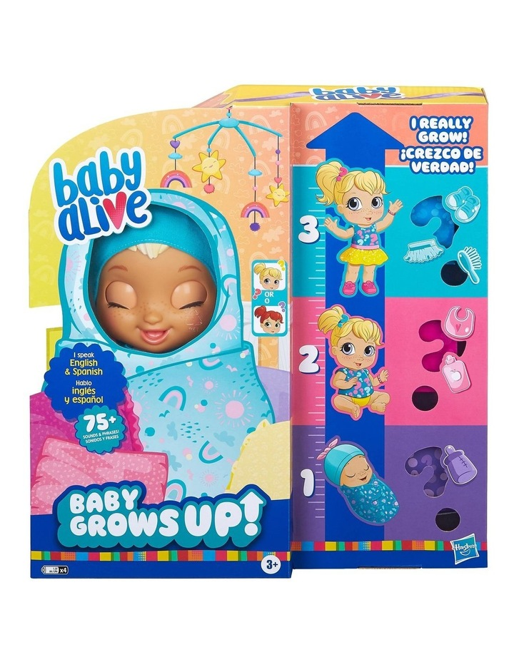 Baby Alive - Baby Grows Up Happy - Happy Hope or Merry Meadow - Growing & Talking Baby Doll with Surprise Accessories image 2
