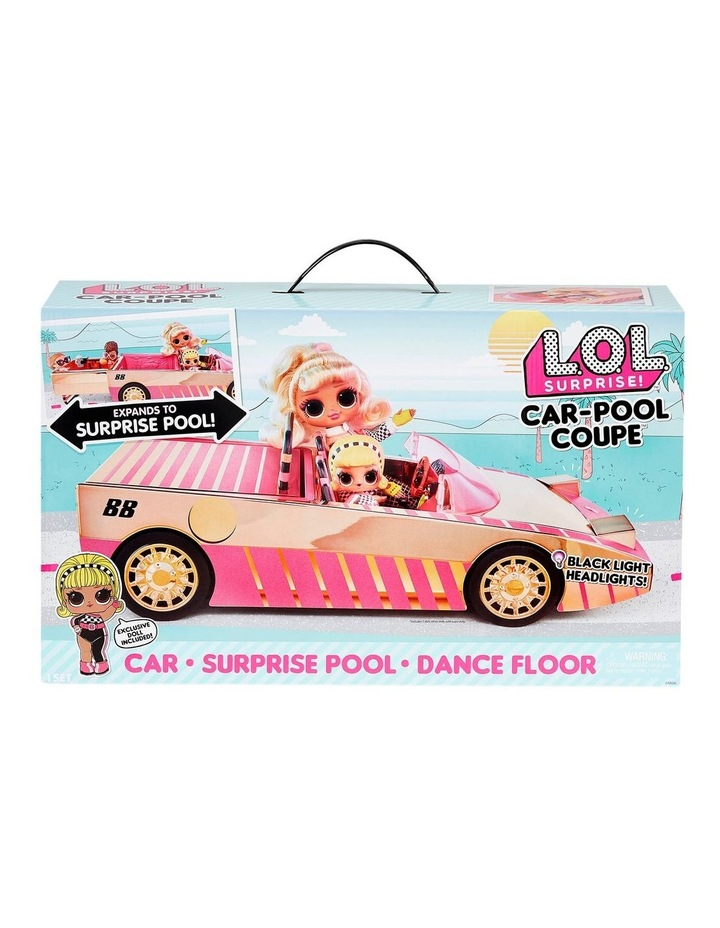 L.O.L. Surprise! Car-Pool Coupe with Exclusive Doll, Surprise Pool & Dance Floor image 1